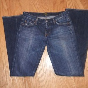 7 for all mankind fitted boot cut jeans.